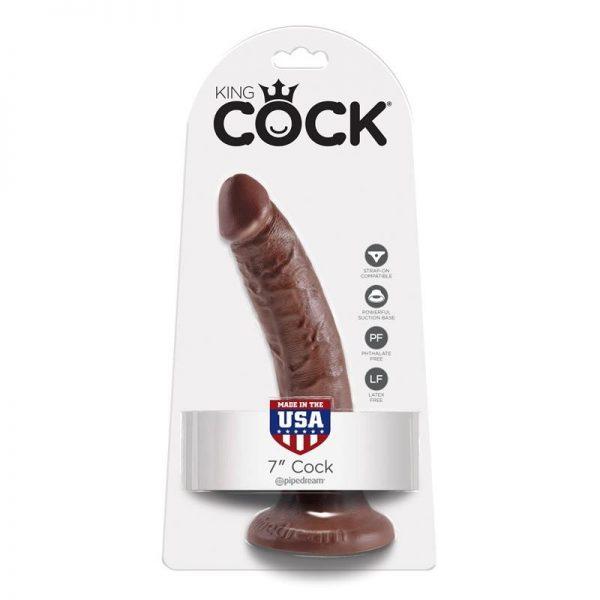 """דילדו חום 17.8 ס""""מ מסדרת King cock"""