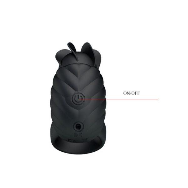 טבעת רטט Frances בצבע שחור