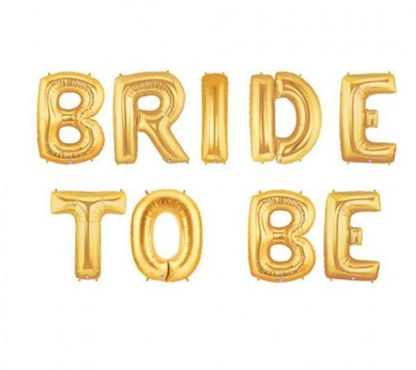 בלוני Bride to be זהב